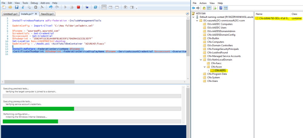 Don't try this at home (Or configuring AD FS against Azure AD Domain